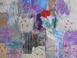 'Abstract' - Stitched paper collage