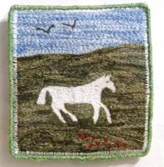'White Horse of Devizes' Free machine embroidery