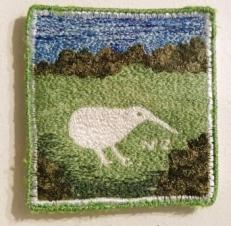 'New Zealand Kiwi' Free Machine embroidery